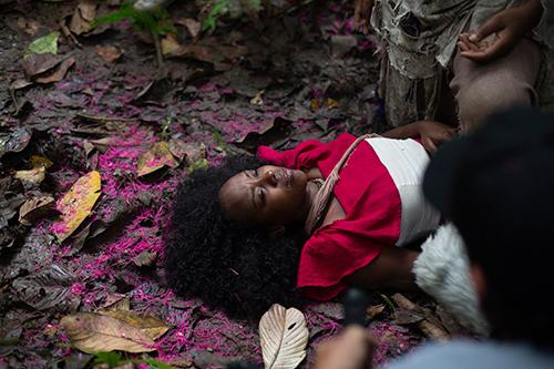 Mayra Luna en el rodaje del cortometraje El secreto del rastro